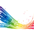 Abstract stripes rainbow background vector image vector image