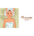 massage therapy vector image