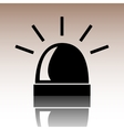 Police single black icon isolated vector image