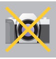 Prohibiting sign No Photo vector image