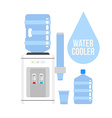 Water cooler vector image
