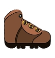 drawing boot equipment adventure camping vector image