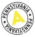Pennsylvania stamp rubber grunge vector image