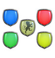 shields in different colours vector image