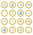 architecture set icon circle vector image