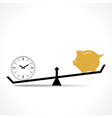 time is more important than money concept vector image vector image