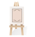 Decorative wooden easel vector image