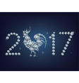 Happy new year 2017 creative greeting card with vector image