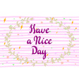 with hand-drawn inscription and ornamental floral vector image