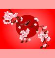 cherry blossom art picture sakura flower vector image