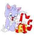 cute happy cartoon cat vector image