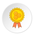 Honey award icon cartoon style vector image