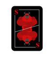 Playing card Satan Conceptual new card devil vector image