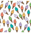 white background with pattern of ice cream cones vector image