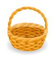 Wicker basket icon symbol vector image