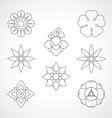 Set Thai flower symbol vector image