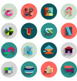 set of geometric abstract flat icons vector image vector image