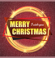 2018 red and gold card with merry christmas text vector image