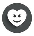 Smile heart face icon Smiley symbol vector image