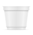 plastic container of yogurt or ice cream 07 vector image
