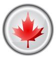Canada flag button vector image vector image
