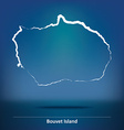 Doodle Map of Bouvet Island vector image