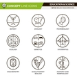 Concept Line Icons Set 2 Biology vector image