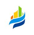 abstract building city urban color logo vector image