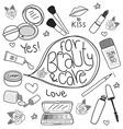 cosmetics cute vector image