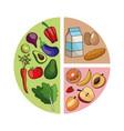diagram healthy food image vector image