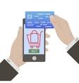 E-commerce flat design concept vector image