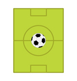 Football soccer ball Field scheme with gates Flat vector image