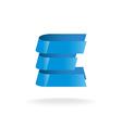 Letter E logo Technical style blue bars vector image