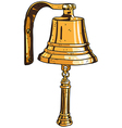 marine theme ships bell vector image