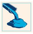 pouring concrete icon vector image