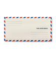 Via air mail DL envelope isolated on white vector image