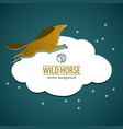 wild horse emblem vector image