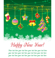 Christmas frame with gold garland vector image