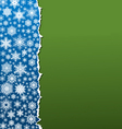 white snowflakes on paper 02 vector image