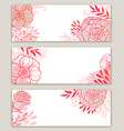 pink floral banners vector image vector image