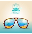 Sunglasses Summer Poster vector image