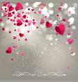 Background of Falling Hearts vector image