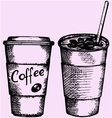 coffee plastic disposable cup vector image vector image