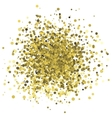 Abstract of random golden dots vector image