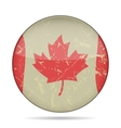 waving grunge flag of Canada vector image