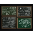 School blackboards set vector image