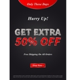 Banner Get Extra 50 percent on vector image