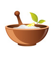 clay in cup for spa icon for web bowl for vector image