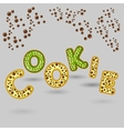 cookie logo design 3d letters vector image