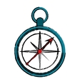 drawing compass location element camping vector image